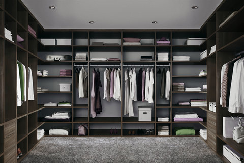 Walk-in closet, Interior system, Corner Solution